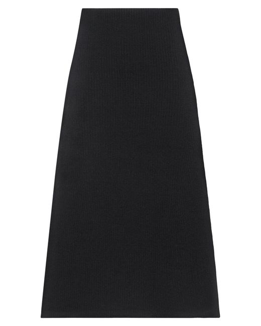 Falda a media pierna Balenciaga de color Black