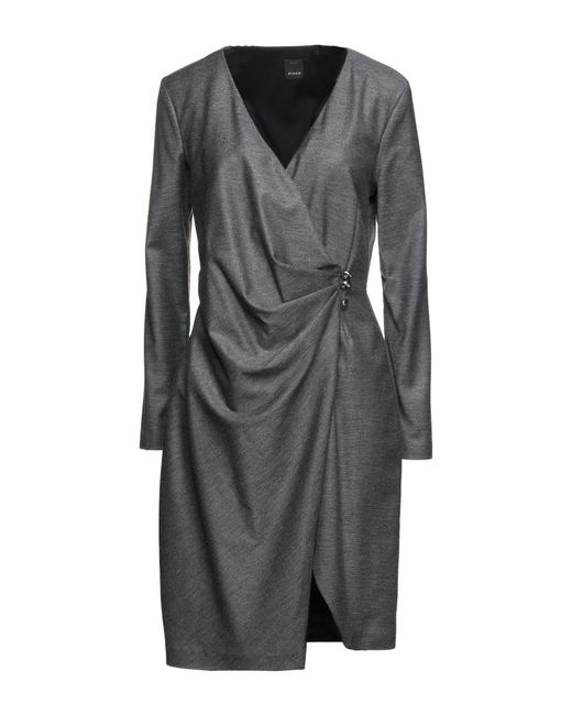 Pinko Gray Kurzes Kleid