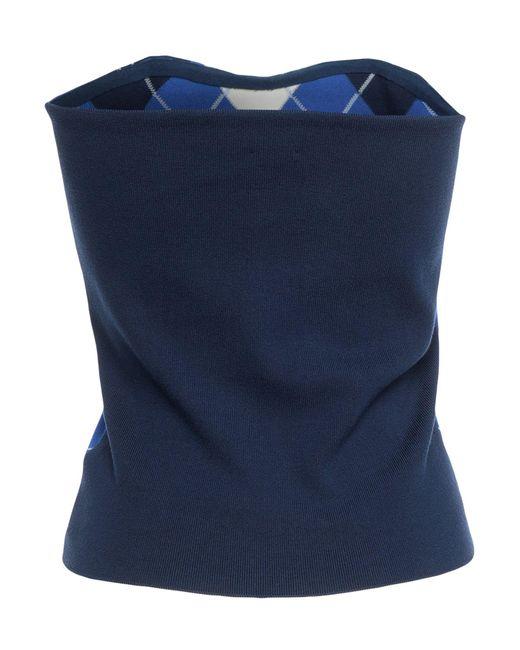 Ballantyne Top a fascia da donna di colore blu