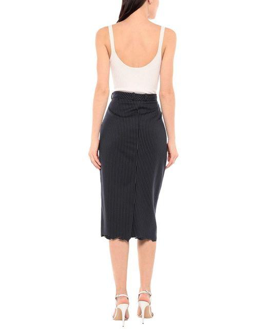 Falda a media pierna Vetements de color Black