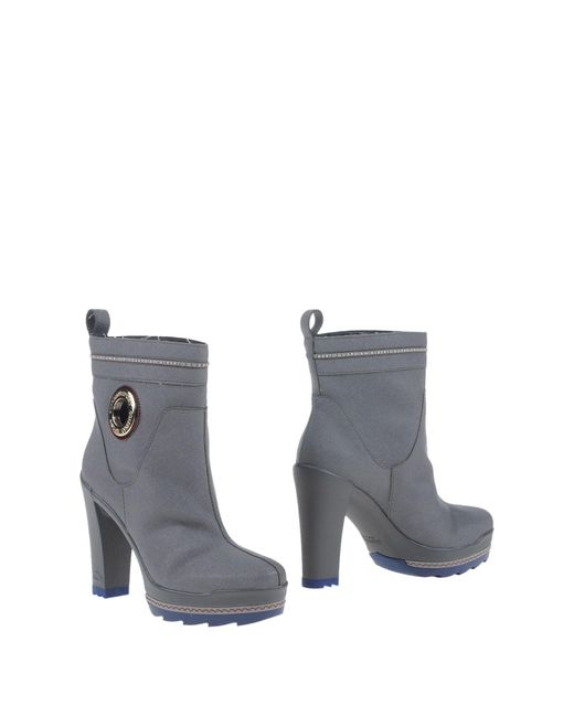 Alberto Guardiani - Gray Ankle Boots - Lyst