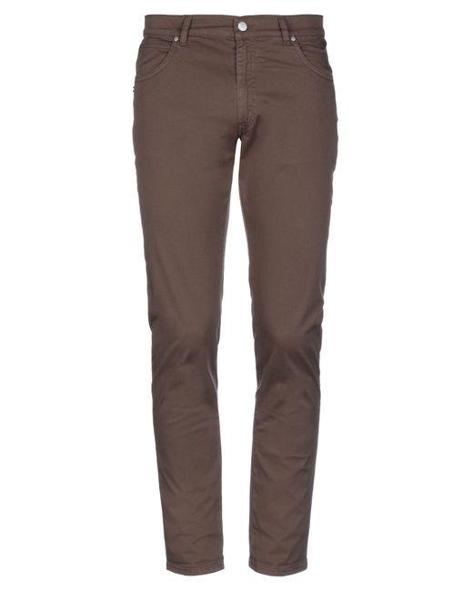 Grey Daniele Alessandrini Brown Casual Pants for men