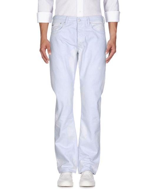 Ralph Lauren Black Label - Gray Denim Trousers for Men - Lyst