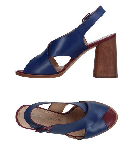 Antonio Barbato - Blue Sandals - Lyst