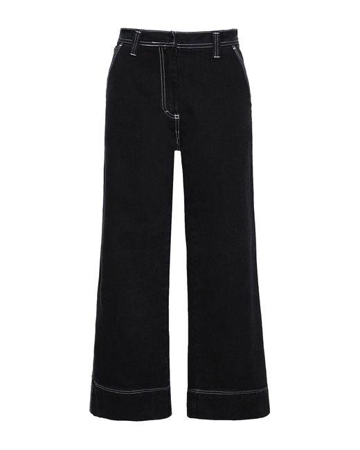 8 by YOOX Black Denim Pants