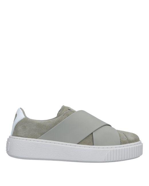 PUMA Gray Low-tops & Sneakers