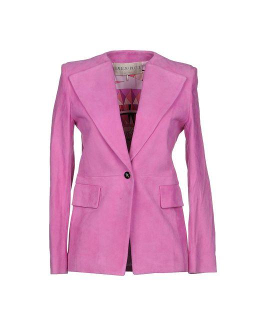 Emilio Pucci - Pink Blazer - Lyst