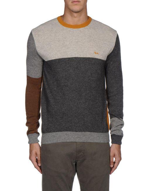 Harmont & Blaine - Gray Crewneck Sweater for Men - Lyst