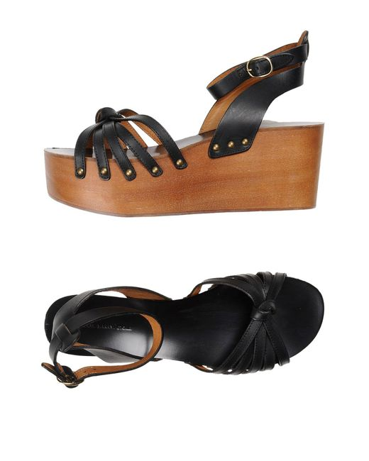 Étoile Isabel Marant - Black Caged Leather Sandals - Lyst