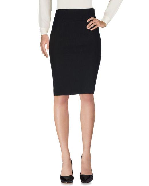 Mauro Grifoni Black Knee Length Skirt