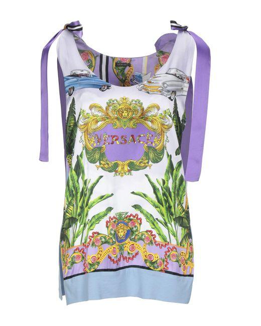 Versace Top de mujer de color morado tEfDz