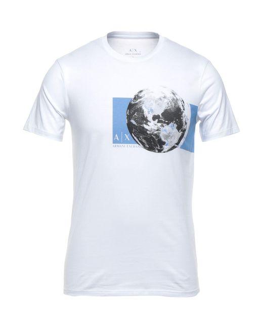 T-shirt di Armani Exchange in White da Uomo