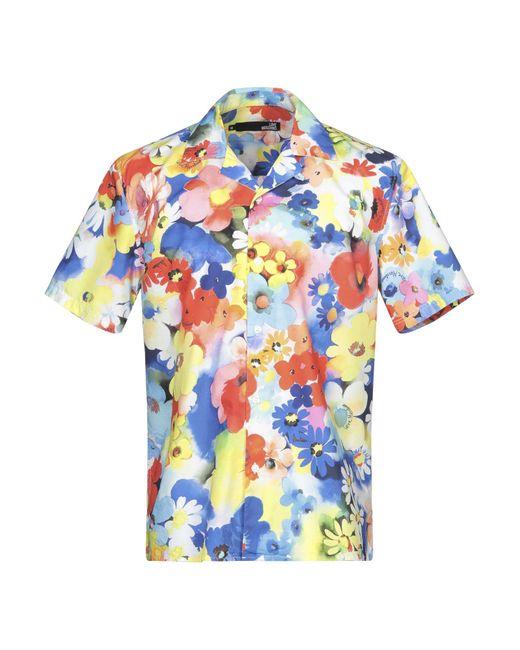 Camicia di Love Moschino in Blue da Uomo
