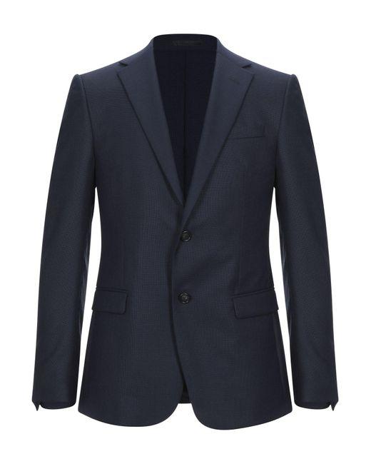 Z Zegna Blue Suit Jacket for men