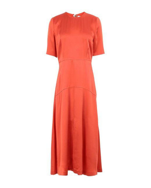 IVY & OAK Vestido a media pierna de mujer de color naranja