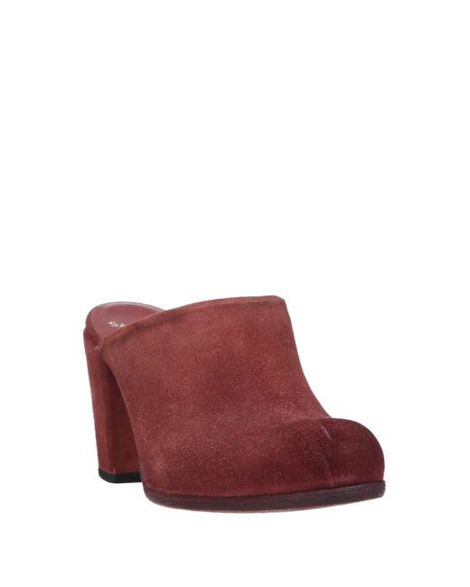 Sartori Gold Mules & Zuecos de mujer de color rojo