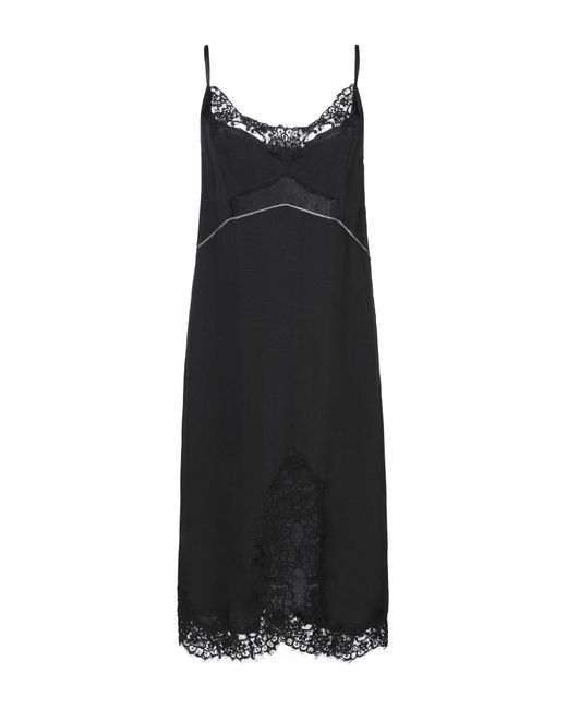 Pinko Black Knielanges Kleid