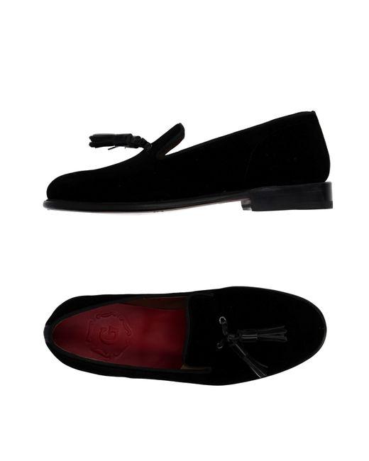 GRENSON | Black Tasseled Velvet Moccasins | Lyst