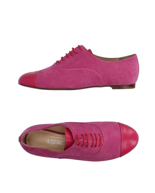 A.Testoni | Multicolor Lace-up Shoe | Lyst