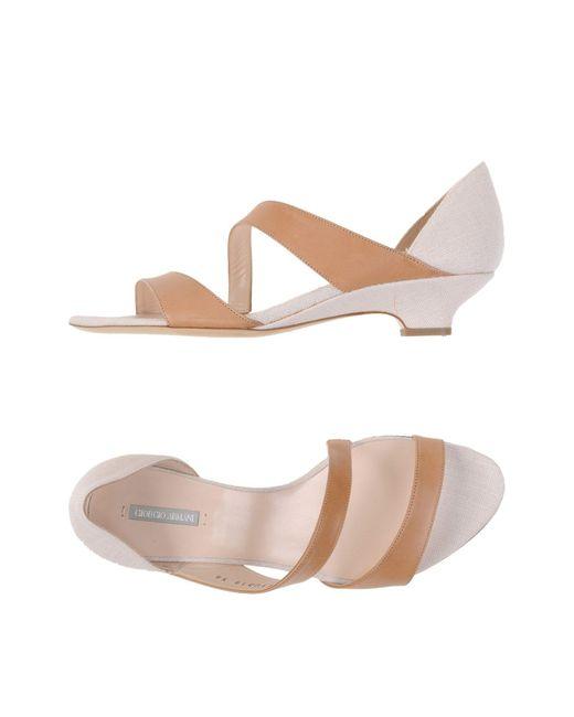 Giorgio Armani   Natural Sandals   Lyst