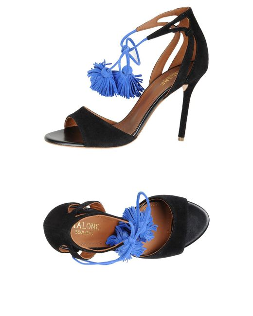 Malone Souliers | Black Sandals | Lyst