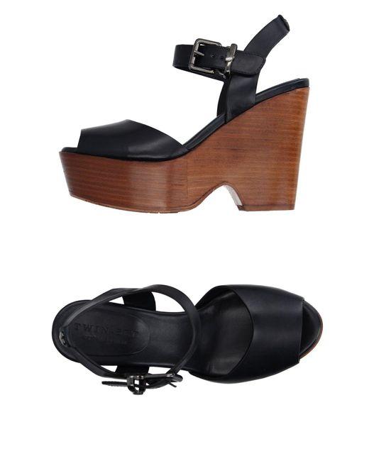 Twin Set | Blue Sandals | Lyst