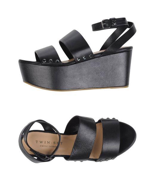 Twin Set   Black Sandals   Lyst