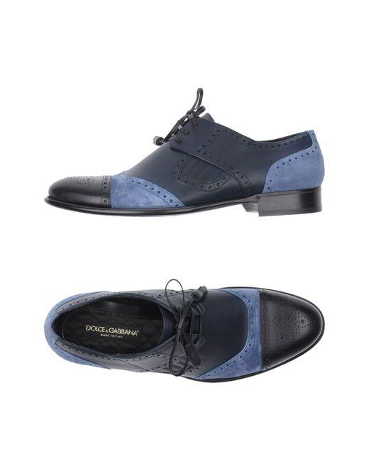 Dolce & Gabbana | Blue Lace-up Shoe for Men | Lyst