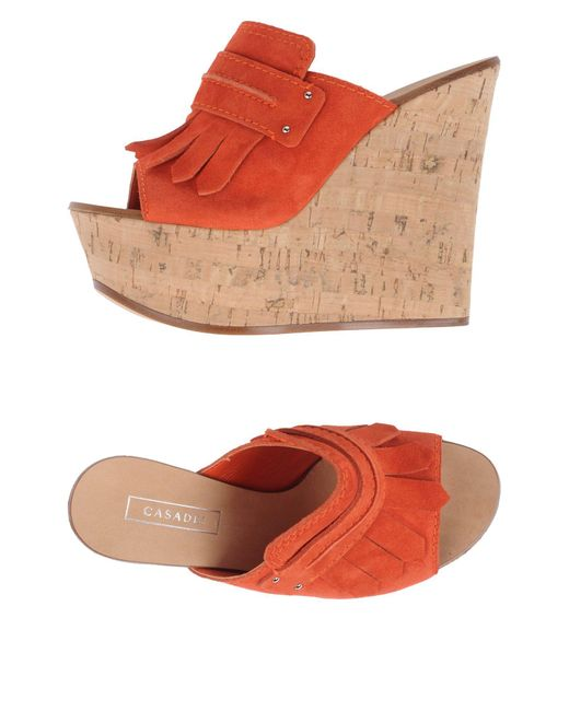 Casadei | Orange Sandals | Lyst
