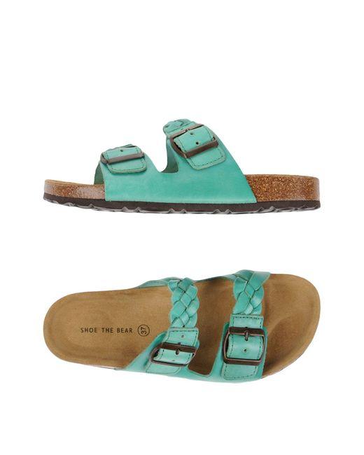 Shoe The Bear | Green Sandals | Lyst