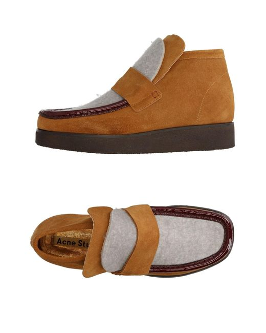 Acne | Brown Loafer | Lyst