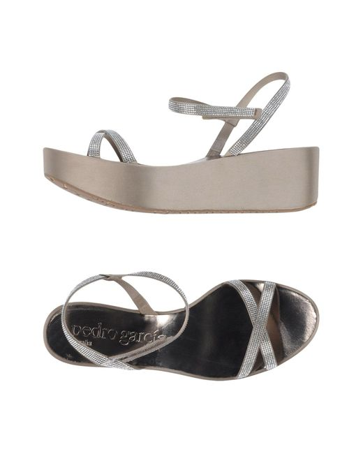 Pedro Garcia | Gray Sandals | Lyst