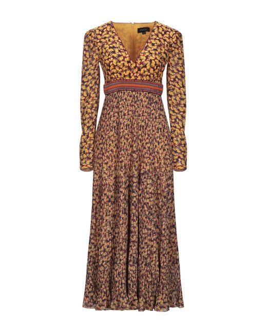 Vestido largo Saloni de color Brown