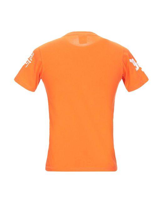 T-shirt di Franklin & Marshall in Orange da Uomo