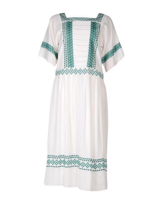 Vanessa Bruno - White 3/4 Length Dresses - Lyst