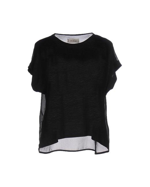 AT.P.CO | Black T-shirt | Lyst