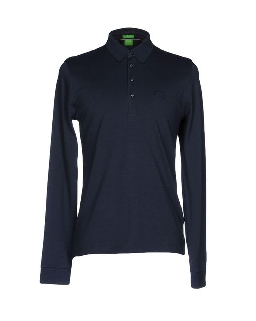 BOSS Green | Blue Polo Shirt for Men | Lyst