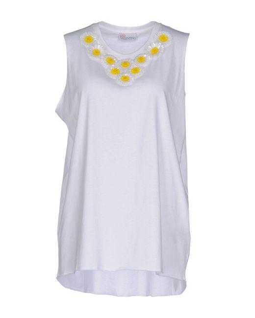 RED Valentino | White T-shirt | Lyst