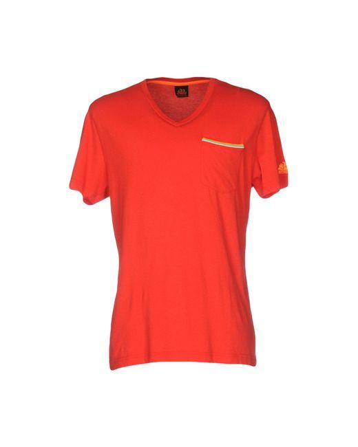 Sundek | Red T-shirt for Men | Lyst