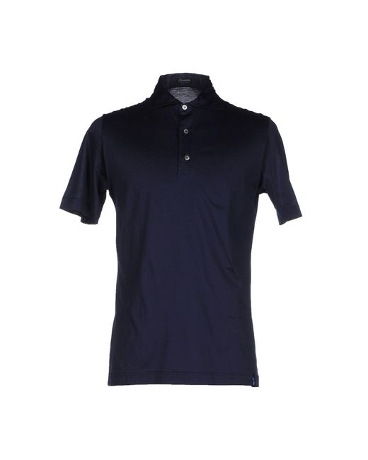 Drumohr Blue Polo Shirt for men