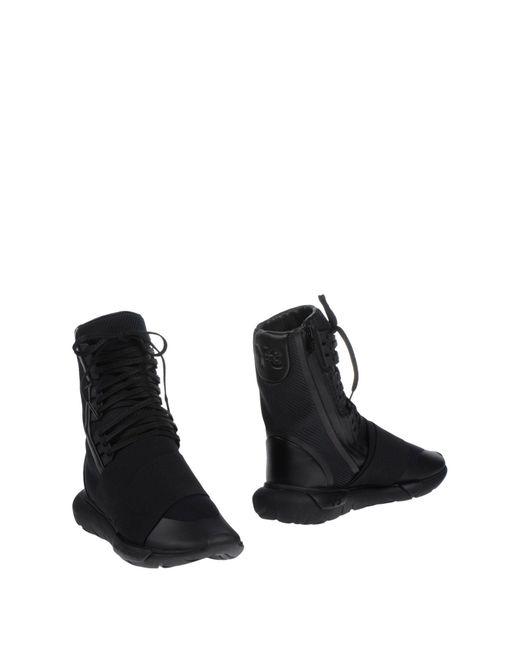 Y-3 - Black Y-3 Qasa Boot for Men - Lyst