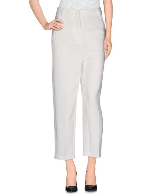 Pinko - White Casual Pants - Lyst