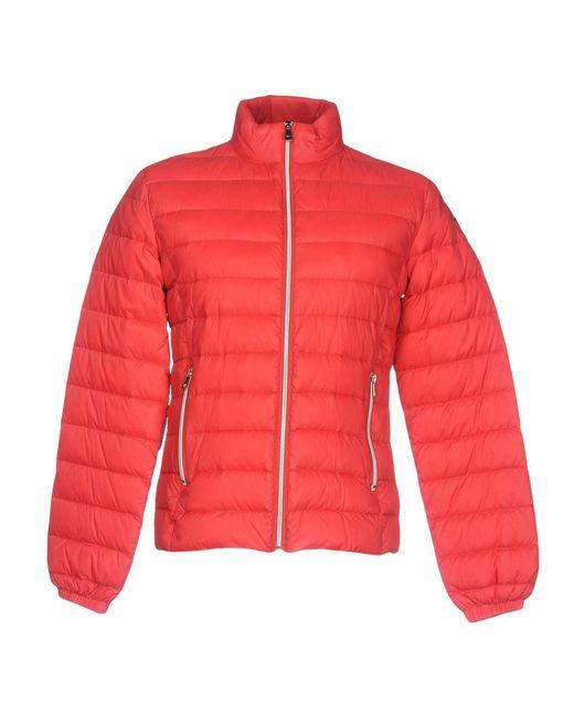 Trussardi - Red Down Jacket for Men - Lyst