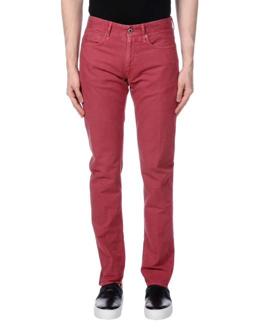 Incotex | Red Casual Pants for Men | Lyst