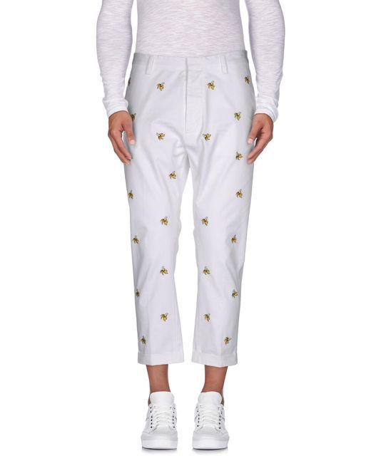 DSquared² - White 3/4-length Short for Men - Lyst
