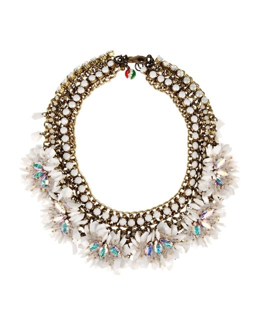 Sveva Collection - White Necklaces - Lyst