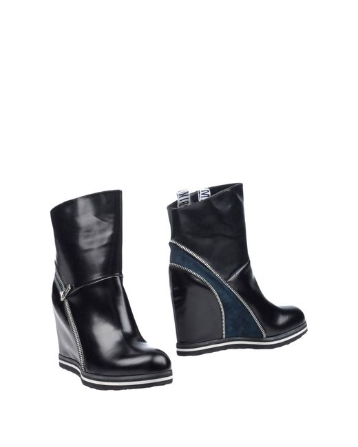 Dirk Bikkembergs - Black Ankle Boots - Lyst
