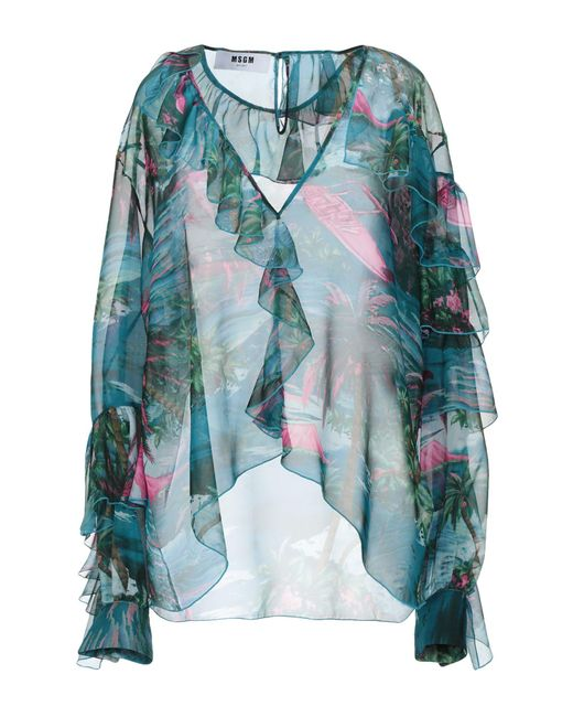 MSGM Blue Blouse