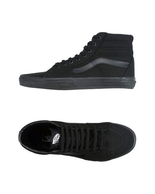 Vans - Black High-tops & Sneakers for Men - Lyst