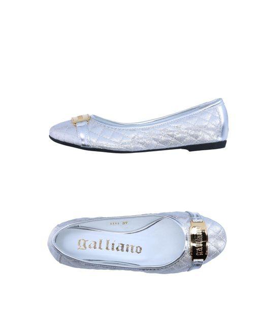 John Galliano - Metallic Ballet Flats - Lyst